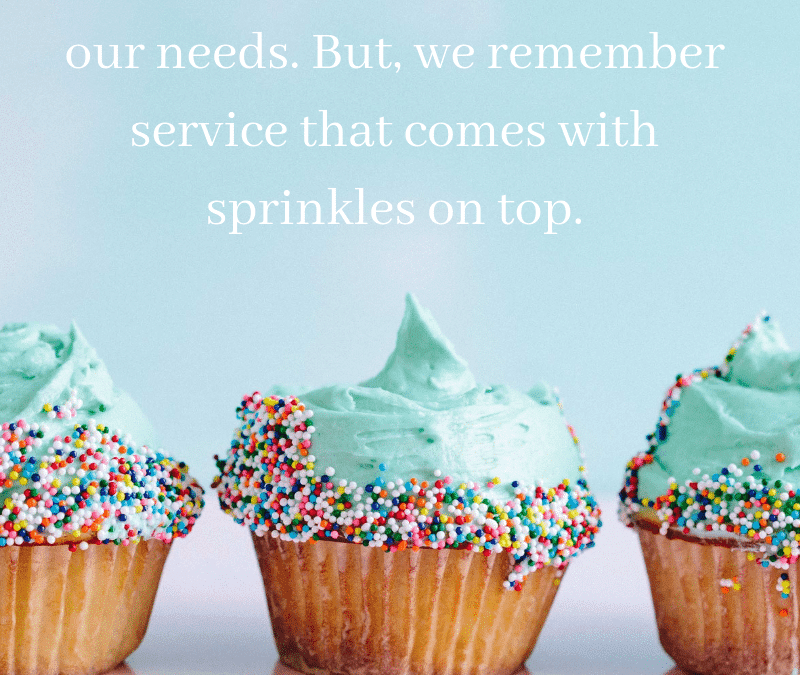Add Sprinkles to Your Customers' Experiences